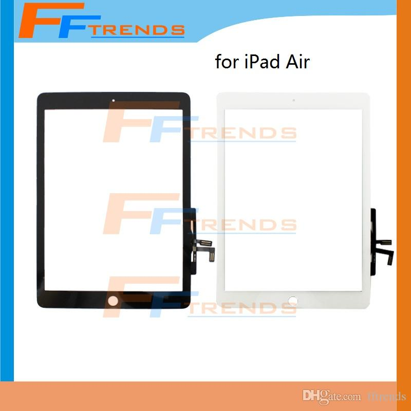 for iPad Air Touch Screen Digitizer White Black Glass Touch Panel High Quality 20pcs/lot Free Shipping