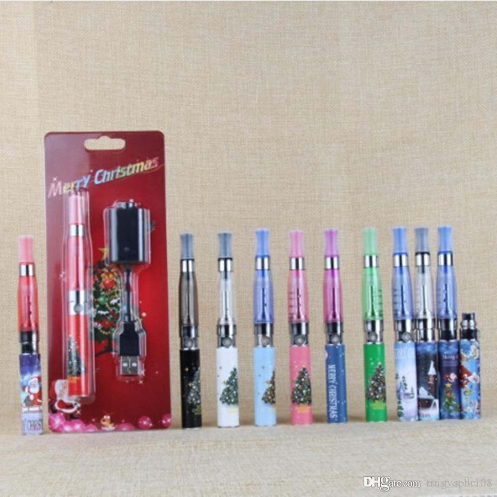 Weihnachtsgeschenk eGo Kits elektronische Zigaretten CE4 CE5 Verdampfer Clearomizer Vape Stift Starter Kit e cig eGo-T 650mah Batterie Blisterpackung Kit