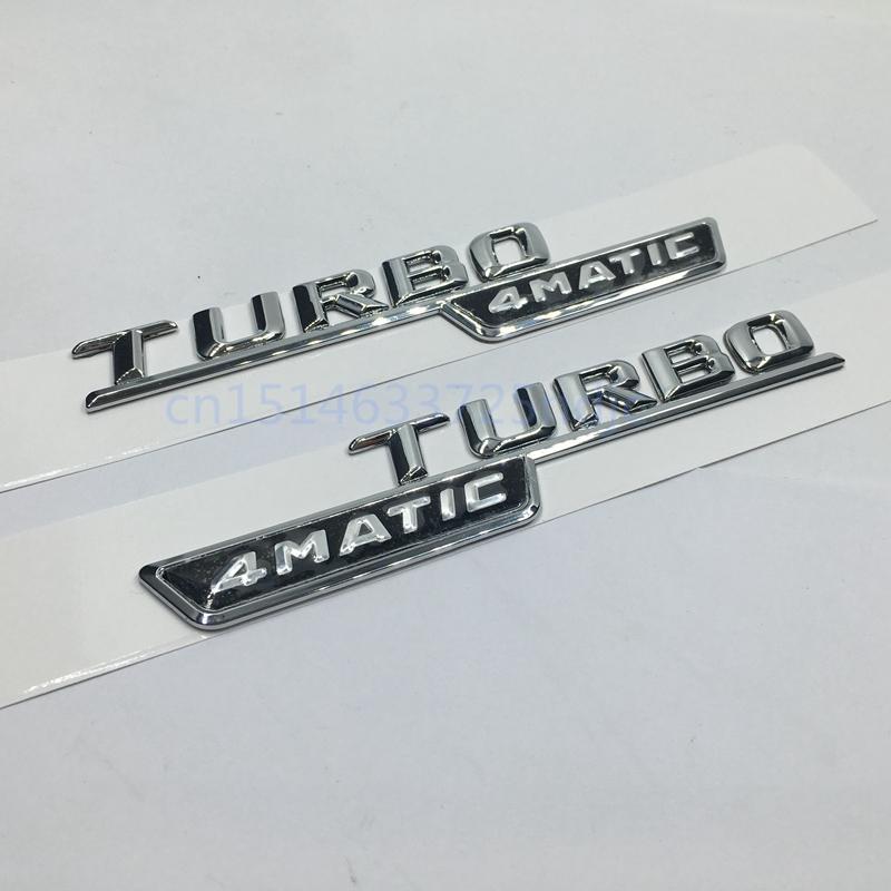 2pcs AMG Matte Silver Car sticker Fender emblem badge Fit for Mercedes Benz