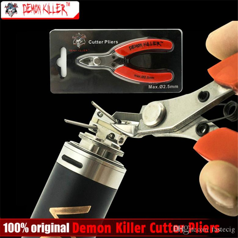 Original Demon killer Cutter Pinze 3Cr13 in acciaio Maniglia in gomma DIY sigaretta elettronica Bobina Wick Wire Cutter per bobina DIY DHL libera la nave