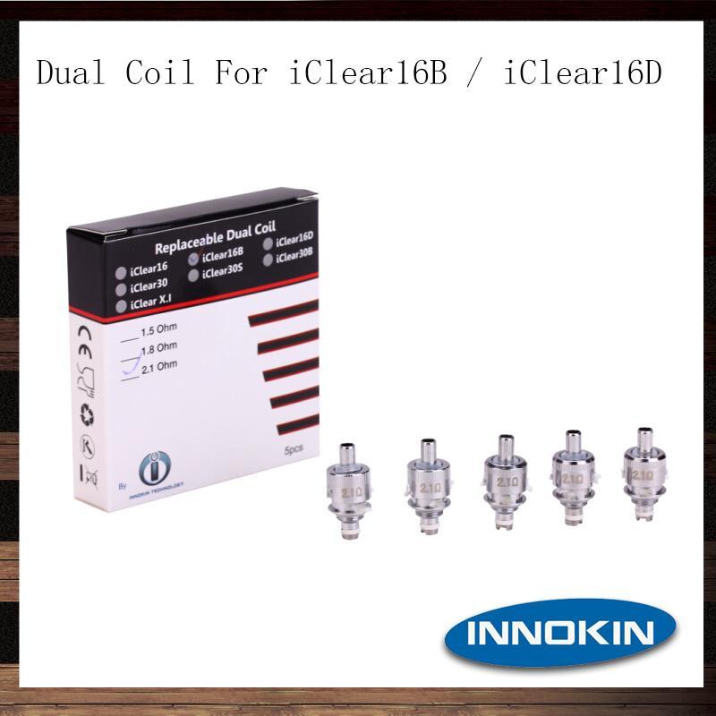 Innokin Replicable Dual Coil Pour iClear 16B 16D Clearomizer Deux têtes de bobine pour l'atomiseur iClear16B 16D 100% Original