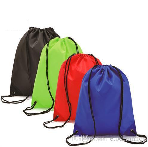 Bolsos de cordón impermeables al por mayor hombros mochila para montar calzado deportivo