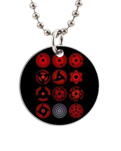 All Sharingan Eyes Naruto Customized Colorful Design Round Dog Tag Necklace Aluminum Tag For Animal Pets Tag Service Dog Id Card Therapy Dog Id Card