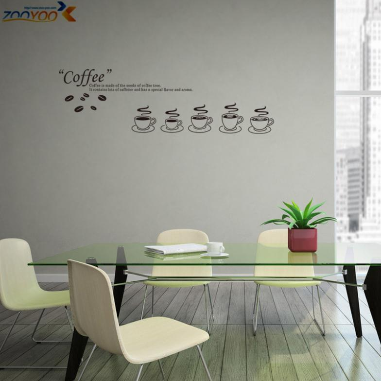 Coffee Shop Kitchen Decorating Ideas Coffee Shop Vinyl Sticker Zooyoo8306  Kitchen Wall Decal Home Decor