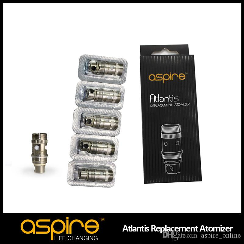Stock Aspire Atlantis 2.0 Coil 0.3ohm 0.5ohm 1.0ohm BVC Coil 100٪ Cotton Cotton Coil Head for Atlantis Mega Tank and Atlantis 2