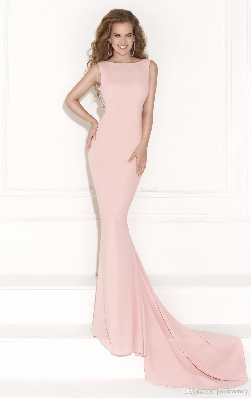 großhandel fashion cap Ärmel rosa meerjungfrau tarik ediz 2015 lange prom  kleider für schwangere frauen satin perlen bogen rückenfrei weihnachten