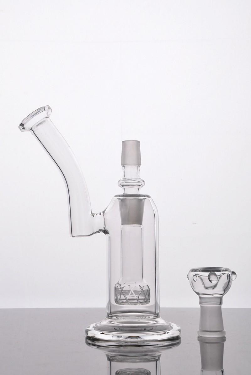 2016 Buena difusión Vidrio Bubbler Tubería de agua de vidrio con cúpula de clavo de vidrio y adaptador Dos funciones Buenos éxitos suaves Envío gratis
