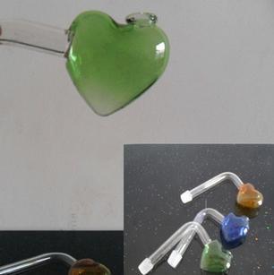 Acessórios quentes do cachimbo de água por atacado Pote ardente de vidro do ofício Coração-dado forma