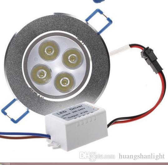 4W 4 * 1W светодиодные светильники высокой мощности светодиодные светильники теплый белый / холодный белый AC85-265V Бесплатная доставка / DHL