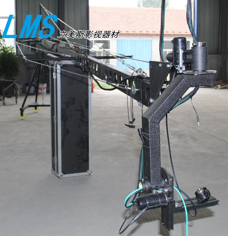 lms 8m Camera Crane Jib Professional DV camera crane jib arm with triangle electronic control rocker arm