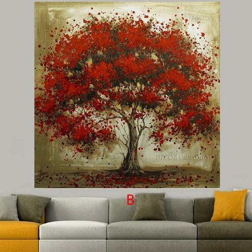 Hand-Made-Oil-Painting-On-Canvas-Tree-Red-Flower-Oil-Painting-Abstract-Modern-Canvas-Wall-Art (1)
