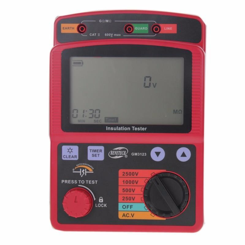 Freeshipping Professional 2500V digital megohm-meter Ohm Meter high tension megger AC Voltage Insulation resistance tester