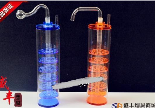 送料無料Wholesale Hookah  -  Hookah Acrylic Plexiglass [Hookah] 8層フィルタリング、カラーランダムデリバリー