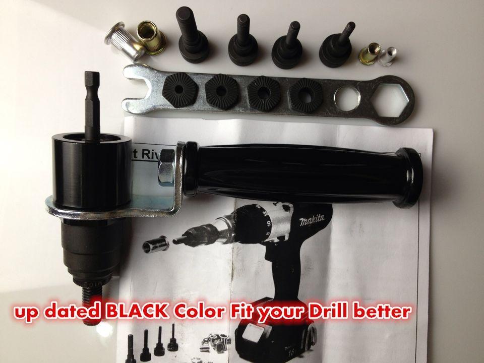 2019 M4 M10 Electric Rivet Nut Gun Steel And Alu Battery Riveter Adapter  Insert Nut Cordless Drill Adaptor Riveting Tools From New268, $183 23 |