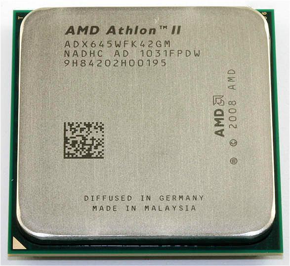 Processeur AMD Athlon II X4 645 (3.1GHz / 2Mo / Socket AM3), unités dispersées à quatre cœurs, processeur