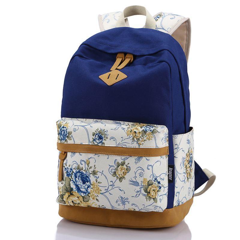 b6c12f0f7668 Designer Brand Genuine Quality Floral Leather Canvas Bag Backpacks School  For Teenager Girl Laptop Bag Printing Backpack Women Backpack. Osprey ...
