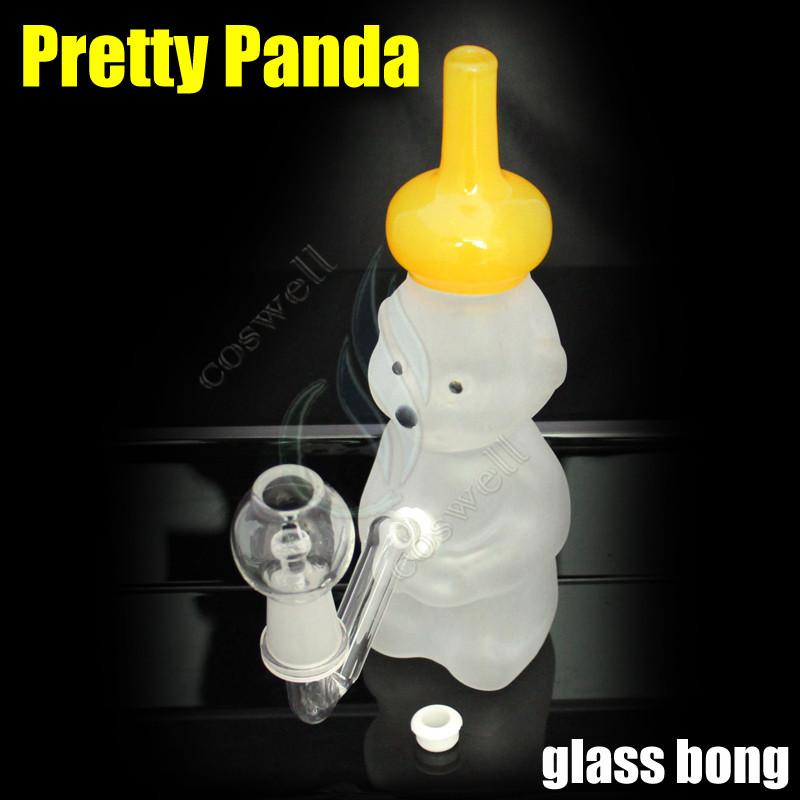 Free Shipping Pretty Panda glass bong bongs water pipes oil rigs rig grinder tobacco pipe bubbler ash catcher windproof lighters dab hookah