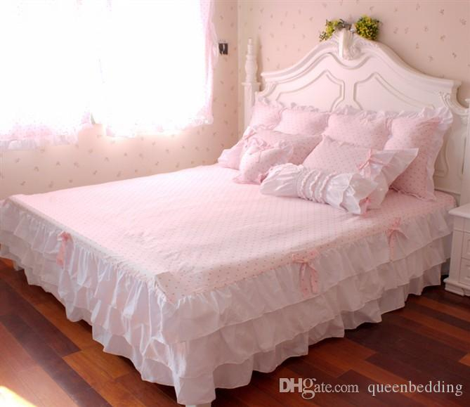 Pink Ruffle Princess Cotton Duvet Cover Wedding Bedding Set Queen King Twin  Size Sheets Western Bright Comforter Duvet Set King Duvet Cover Clearance  ...