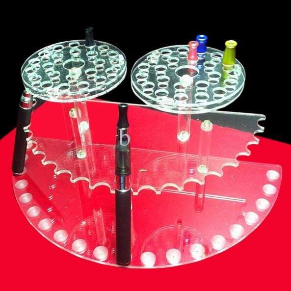 Akrilik Kalem Ekran Standı E Sigara Mükemmel Gösteri E Sigara Standı Disk Sigara Tutucu Ecig Standı Ego Standı