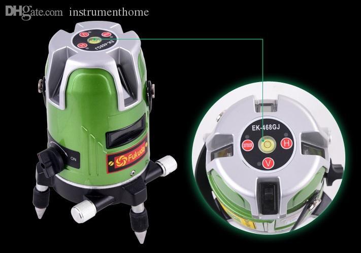 Wholesale-Free shipping fukuda automatico self leveling green line nivel de laser level 4v1h