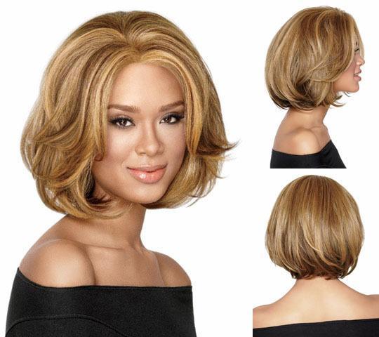 Großhandel Haarpflegeprodukte Mittellang Perücken Synthetische Perücken Für Frauen Wavy Blonde Bob Perücke Freies Verschiffen Chic Falsche Haare