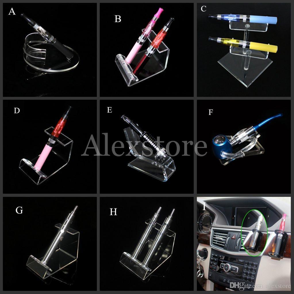 Acrylic e cig display clear stand shelf holder vape car rack for vapor ego battery e pipe ecig vaporizer pen mech mod mechanical e-cigarette
