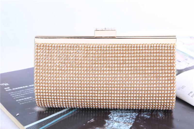 Fabbrica / Retaill / all'ingrosso nuovissimo sacchetto di sera diamante nobile fatti a mano / frizione con raso per matrimoni / banchetti / festa / PORM