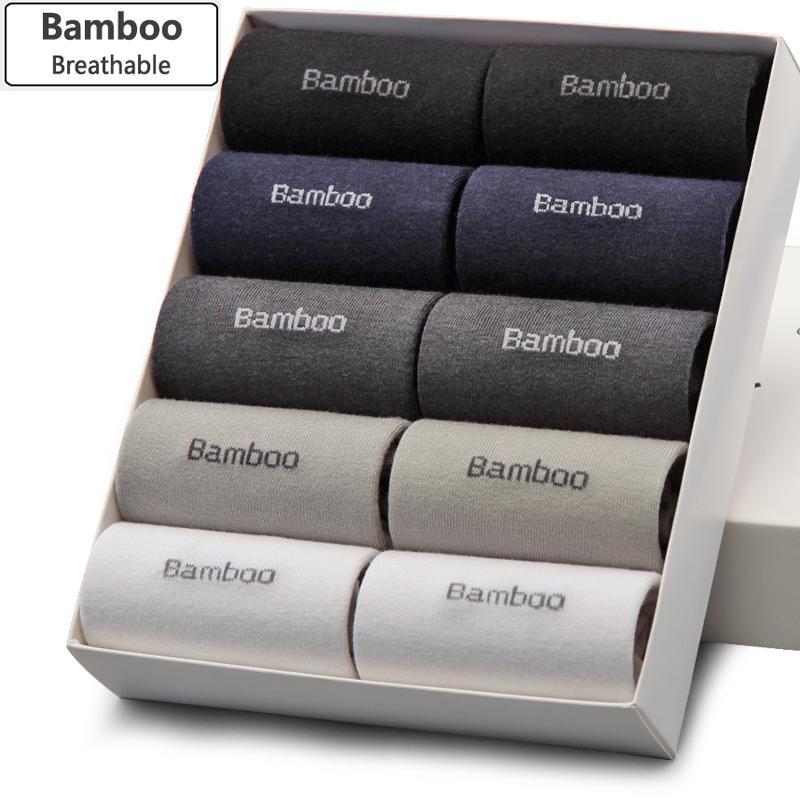 Wholesale- Bendu Hommes Chaussettes de bambou Uarantee Anti-bactérienne Déodorante confortable respirante homme d'affaires décontracté homme d'affaires (10 paires / lot)