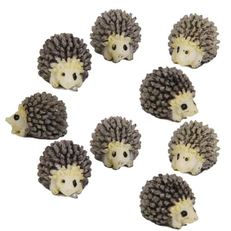 10pcs casa delle bambole in miniatura Bonsai Fairy Garden Landscape Hedgehog Garden Decor