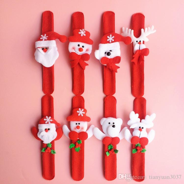 Decorações de natal de Natal Patting Círculo de Presente de Natal Das Crianças Papai Noel Boneco de Neve Veados Ano Novo Partido Brinquedos TY1649