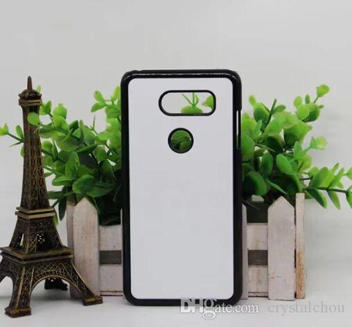 Para LG V30 2D DIY plástico em branco caso de sublimação com inserção e cola shiping livre 50 pcs