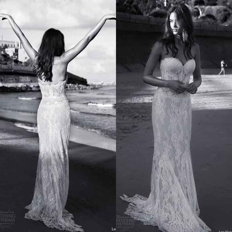 Julie Vino guaina primaverile abito da sposa primavera beach party vintage pizzo illusione corpetto innamorato senza maniche boho abiti da sposa treno