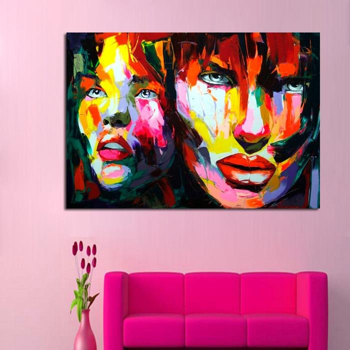 2018 And Hand Painted Brother And Sister Oil Painting On Canvas For ...