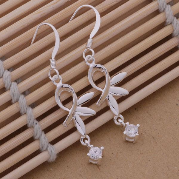 Mode (fabricant de bijoux) 40 pcs beaucoup Lotus avec diamant Boucles d'oreilles en argent sterling 925 usine de bijoux en argent Boucles d'oreilles Fashion Shine