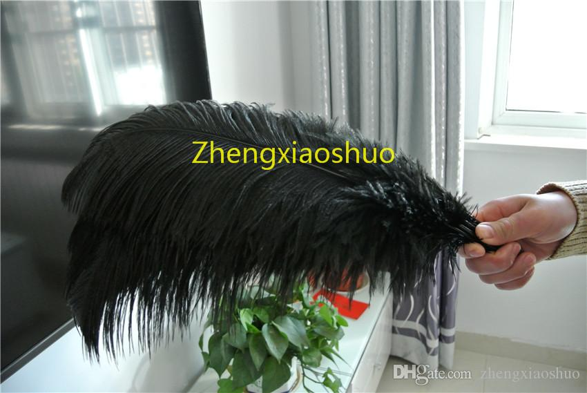 Free Shipping 50 pcs Black Ostrich Feather 16-18INCH (40-45cm) Wedding centerpiece Home Decor party supply decor