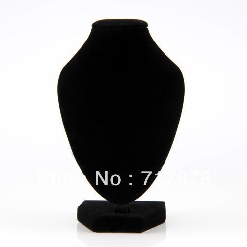 5 pezzi / lottp spedizione gratuita nero velvet collana pendente catena di gioielli collare busto display stand supporto