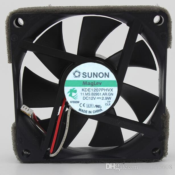 Original SUNON KDE1207PHVX 12V 2.9W 7CM 7015 3 line Santak cooling fan