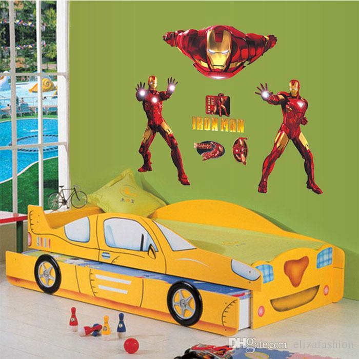Iron Man Wall Stickers Wall Art Stickers Nursery Wall Decals Kids ...