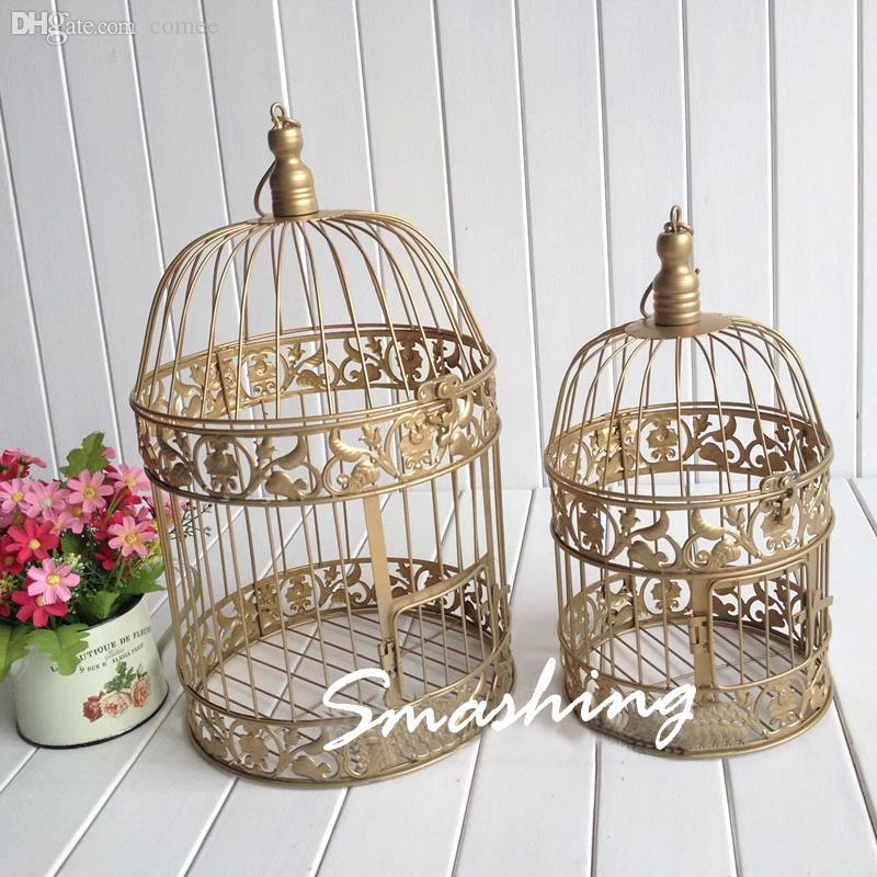 Wholesale Decorative Bird Cages Weddings Handmade Antique Gold Metal Wedding Cagecandlestick Candle Holders Home Decor 2018 From Comee