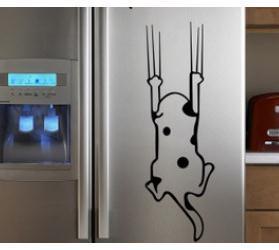 Acquista Cartone Animato Bambino Vero Frigorifero Mobile Da Cucina Adesivi  Da Parete Piastrelle Mobili Adesivi In vetro Salva Me Cat A $11.93 Dal ...