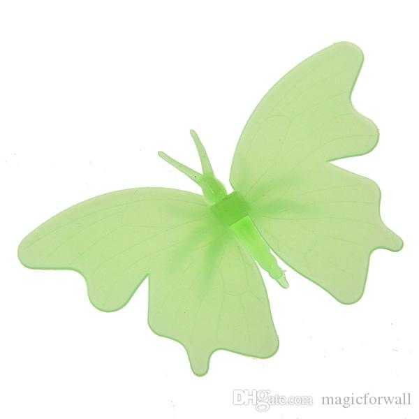 4PCS/Set Plastic Luminous Butterfly WallDecor Glow in the Dark Butterfly Fluororescent Decal Art Noctilucent Decorative Wall Stickers