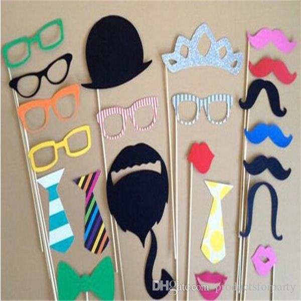 Fashion Funny Photo Booth Props Hat Mustache On A Stick Wedding