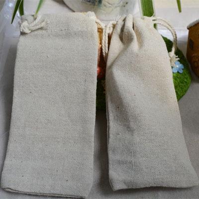 Lino con coulisse borse 7cmx16cm 8cmx22cm 10cmx35cm può Custom Logo Vintage Parrucche capelli gioielli tessuto sacchetti regalo