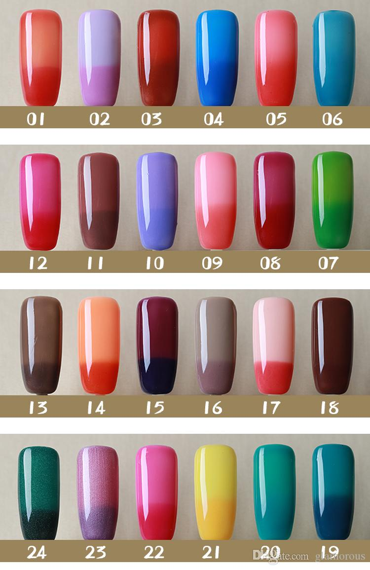 Nail Gel Polish Color Changeable Temperature Change Nail Art Led ...