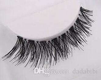 NEW ARRIVAL 50 Pairs Lot Black Natural Cross Fake False Eyelash Soft Long Makeup Eye Lash Extension free shipping
