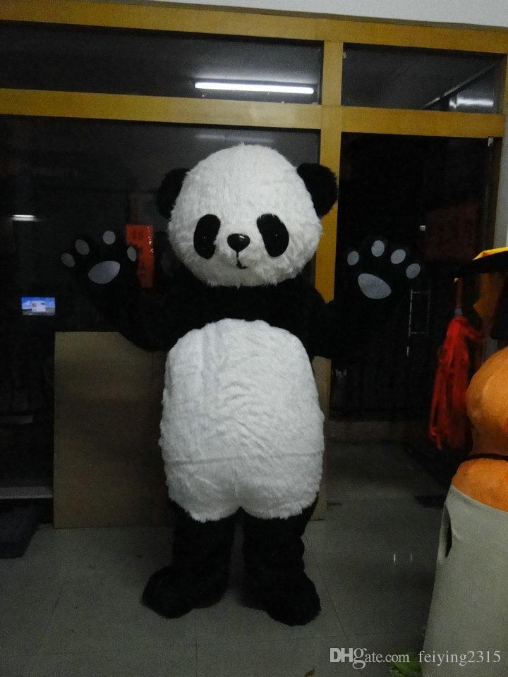 ترف الباندا الدب التميمة Costum (أفخم)! مجاني S / H