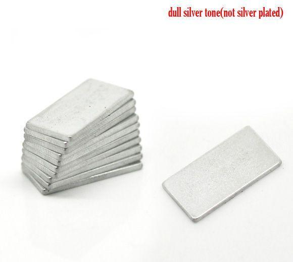 """Beijia Silver Tone Super Silne Prostokąt Neodymium Magnesy 20x10mm (3/4 """"x3 / 8""""), sprzedawane na paczkę 10"""