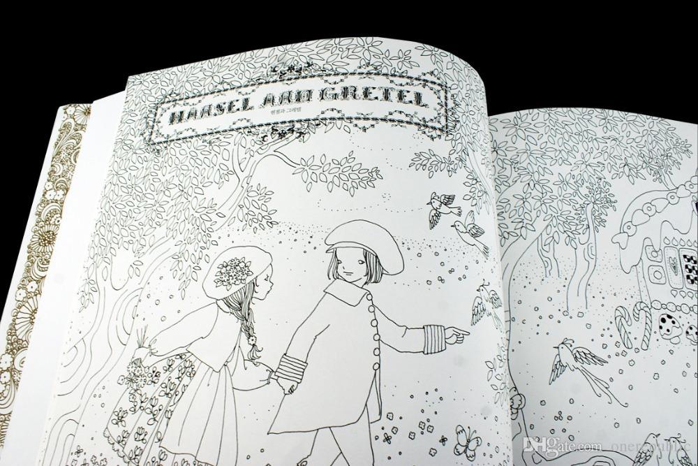 Coloring Book Secret Garden : Cheap the fairy tale colouring book secret garden style coloring