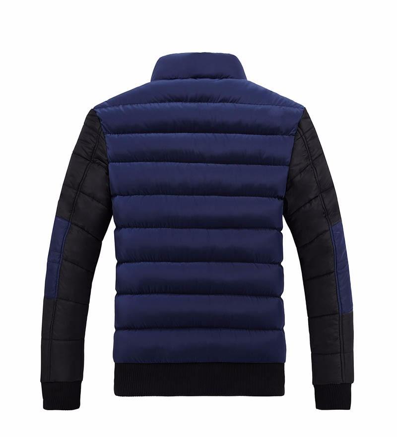 Winterjacke Männer Mäntel 2017 neue Slim Fit Stehkragen Cotton-Padded Marke Fashion Parkas Mäntel Jacken Oberbekleidung 3XL 4XL X396