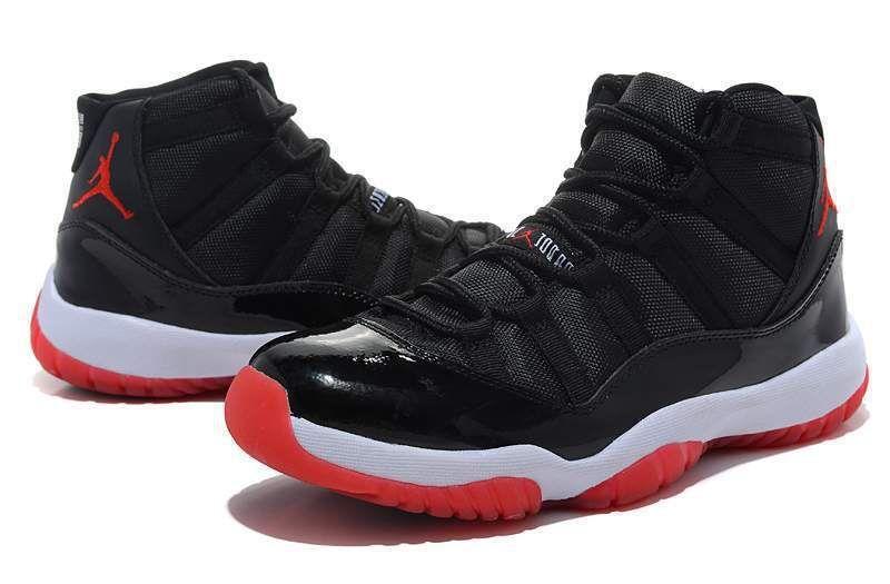 detailed look 146f1 13af6 Nike Air Jordan 11 Bred Black Red Retro 11s Men Jordan 11s Size 8 13 Shoes  Jordans Sneakers On Sale From Golder, $121.83| DHgate.Com